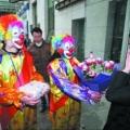 小丑送花惊喜照片