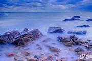 慢拍海与礁(日落后的色彩)
