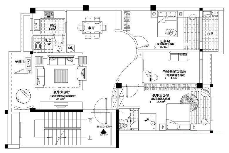家居房产 69 常用装修图纸有哪些   ⑤配电系统图:包括强弱电路的走