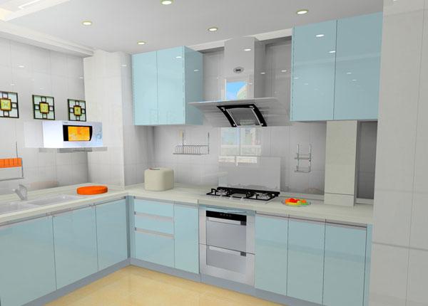 在厨房选用实木门板的橱柜,具有回归自然,返璞归真的效果.