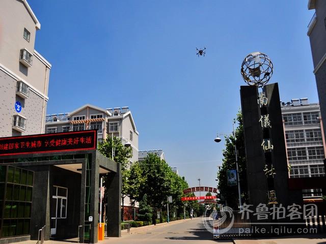 肥城 拍客航拍新农村新形象的典范 肥城南仪 仙村 高清图片