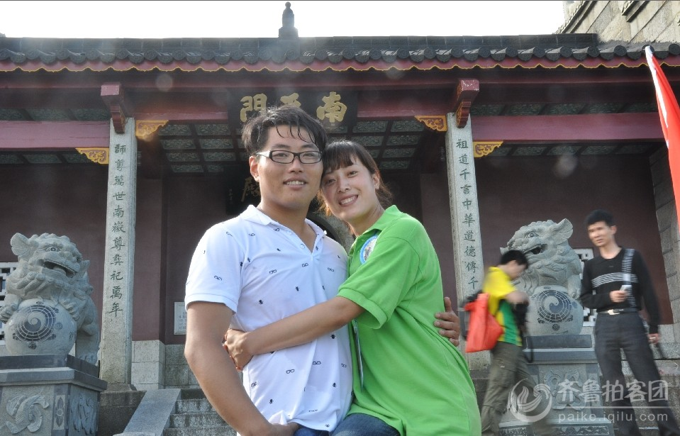 南天门 陈州和妻子的合影 羡慕嫉妒木有恨.jpg