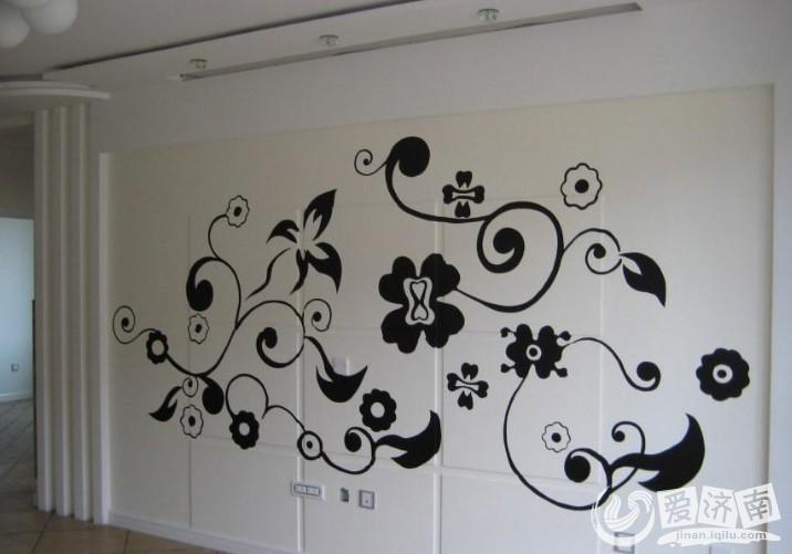 客厅装修观点之手绘影视墙