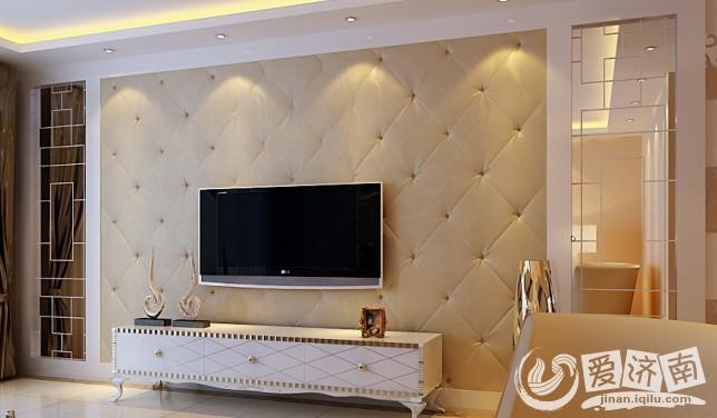 两边采用对称的设计 将电视机的位置集中到小面上