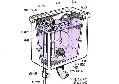 【知识贴】厕所马桶堵了怎么办?附马桶结构图
