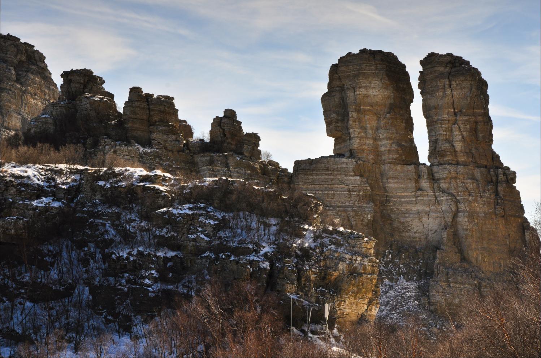 原创游记白石山雪景(世界地质公园飞狐峡景区+石瀑峡