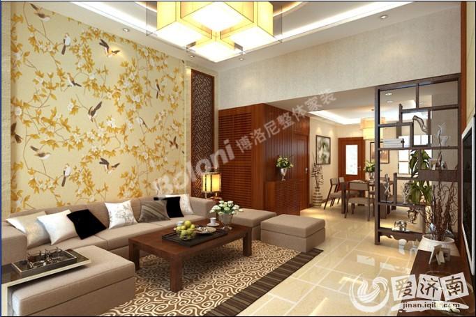 设计风格:新中式   设计师:杨程   公司:济南博洛尼整体家装   职务