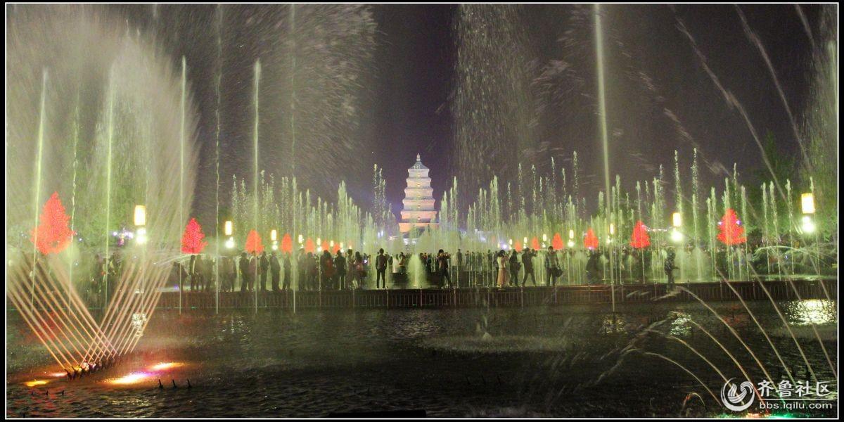 大雁塔广场音乐喷泉