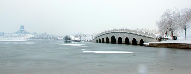 大雪无痕-拍摄于清风湖