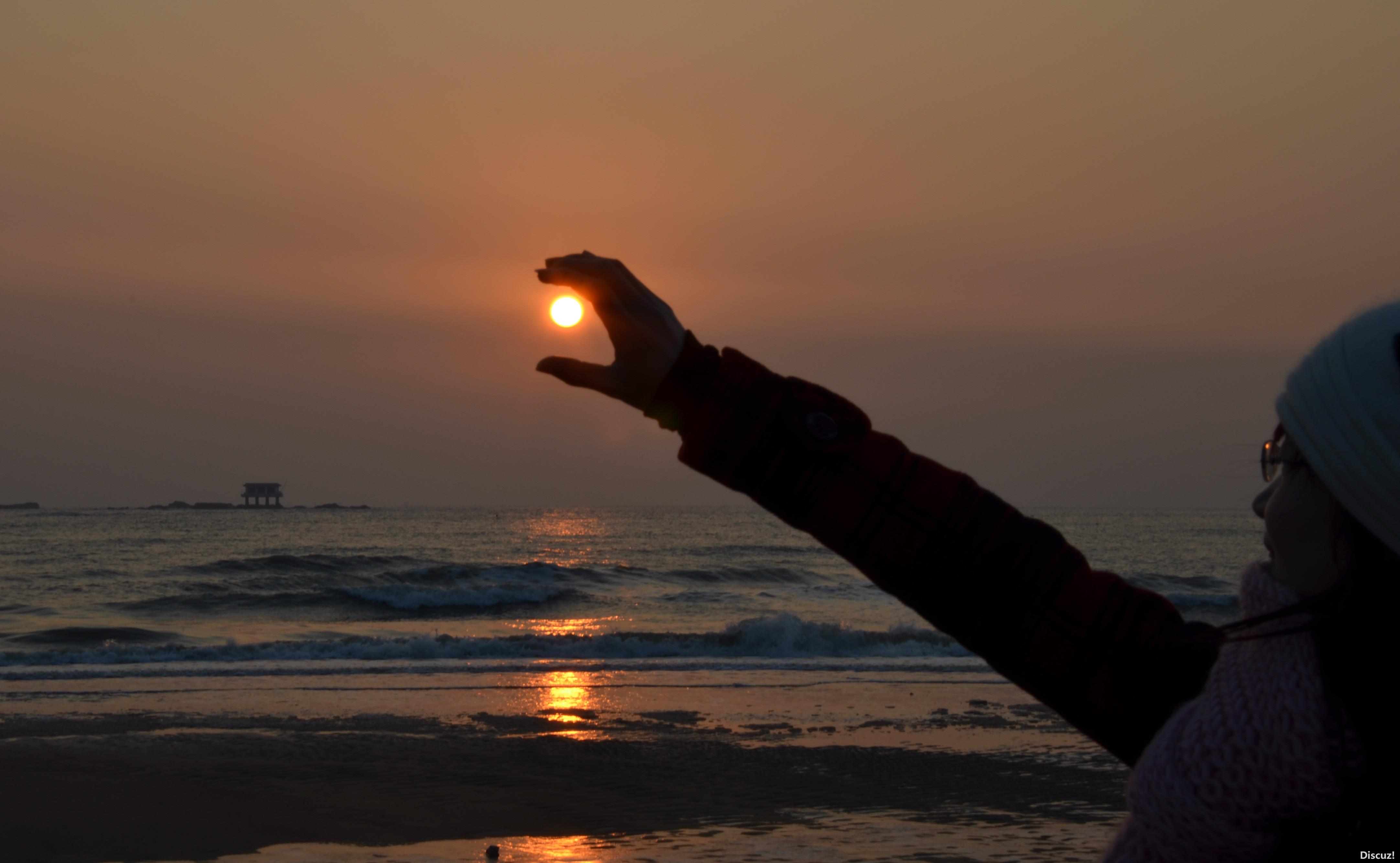 日照校园拍客海边日出采风