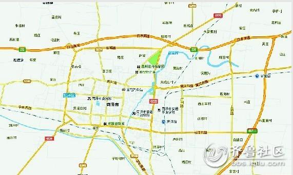 2013年菏泽航拍地图