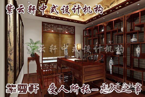 中式别墅书房装修设计效果图   现代的居住空间,简单装饰的