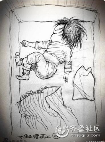 父亲为女儿画百睡图