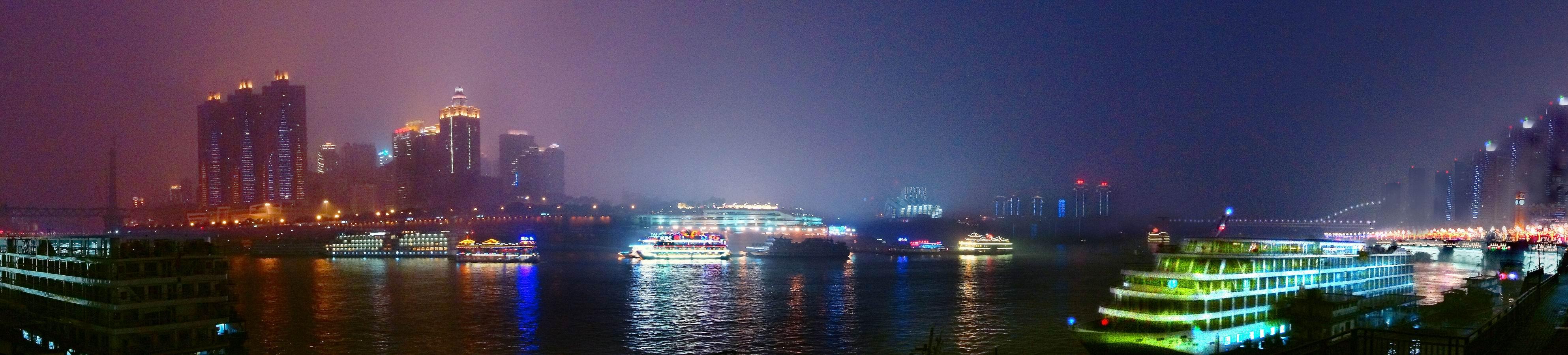 西南明珠. 渝中半岛夜景