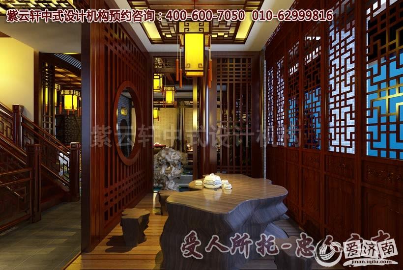 茶室中式装修设计效果图