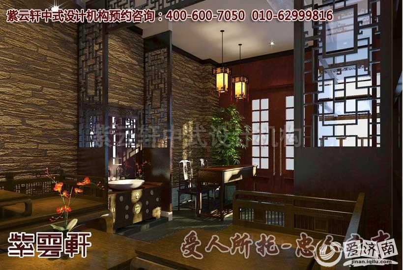 中式茶馆休闲区设计装修效果图-中式茶楼设计装修解决方案赏析高清图片