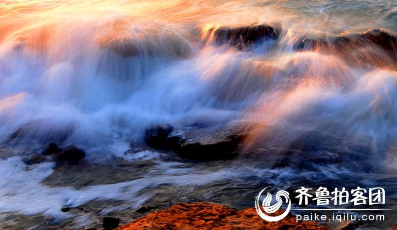 彩浪映晨阳 - 青岛拍客 - 齐鲁社区 - 山东最大的城市