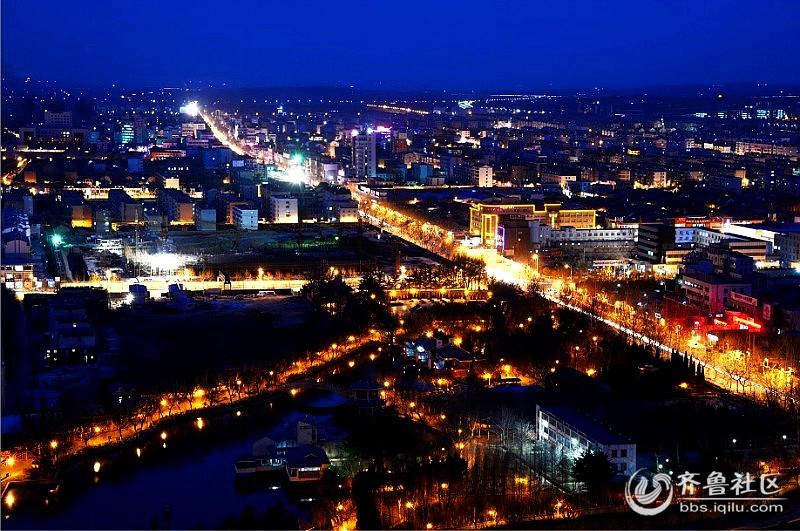 平度夜景 - 青岛论坛 - 齐鲁社区 - 山东最大的城市