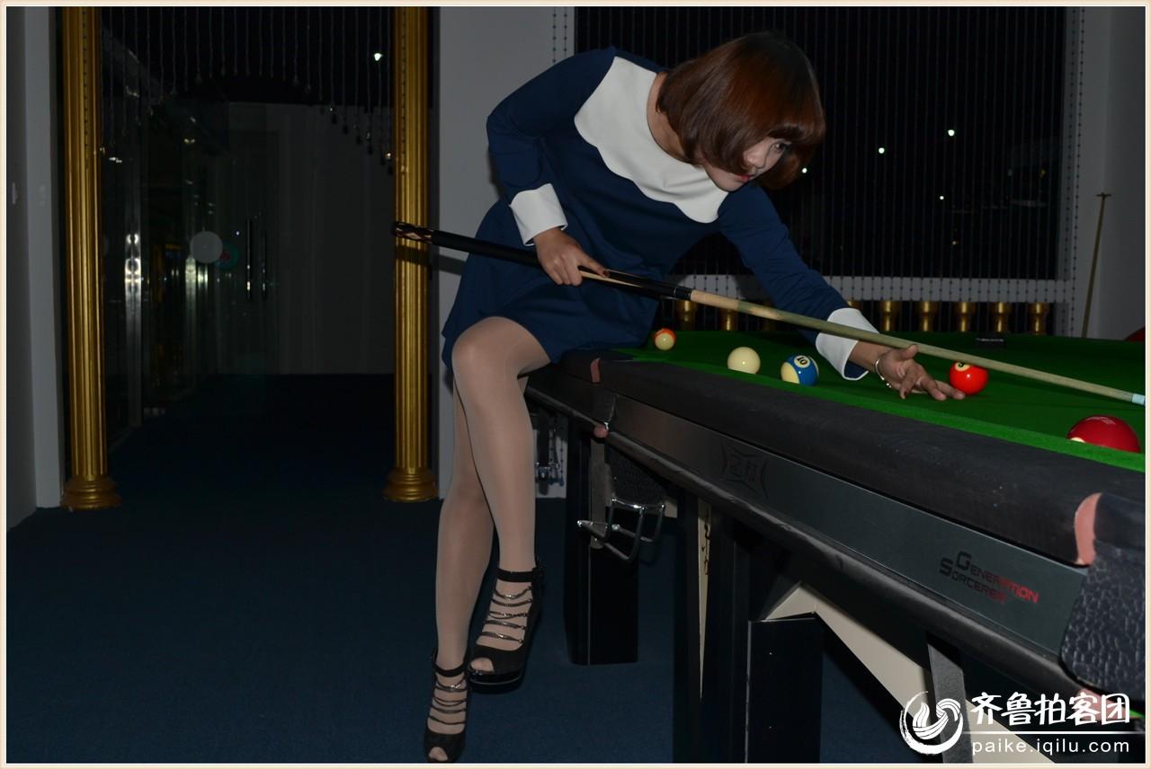 台球美女 济宁拍客