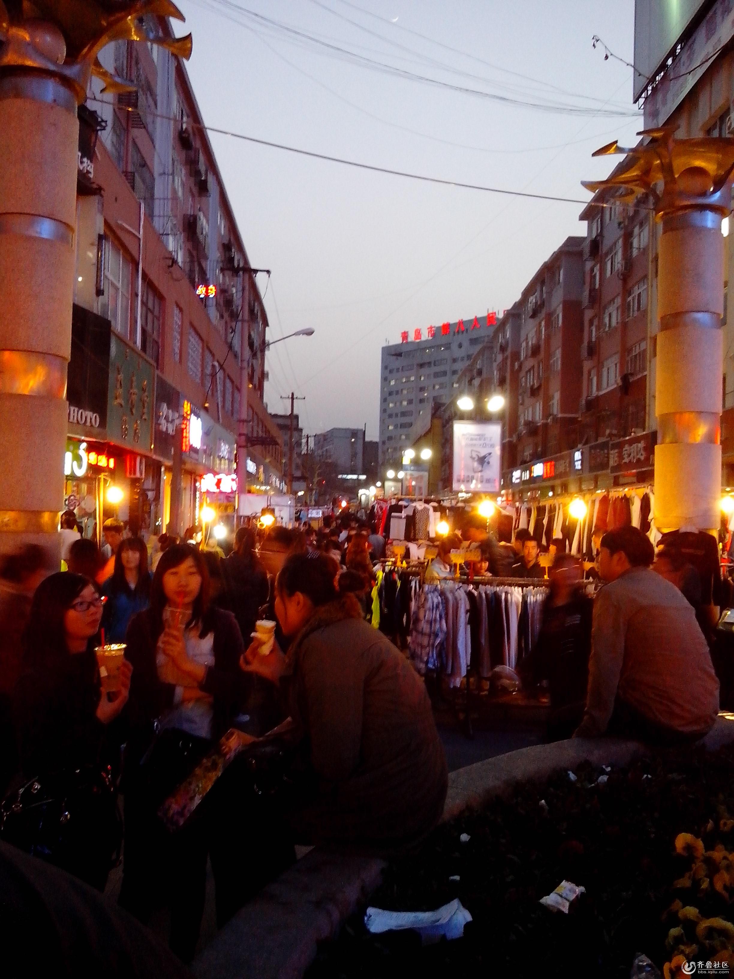 夜市街道背景素材