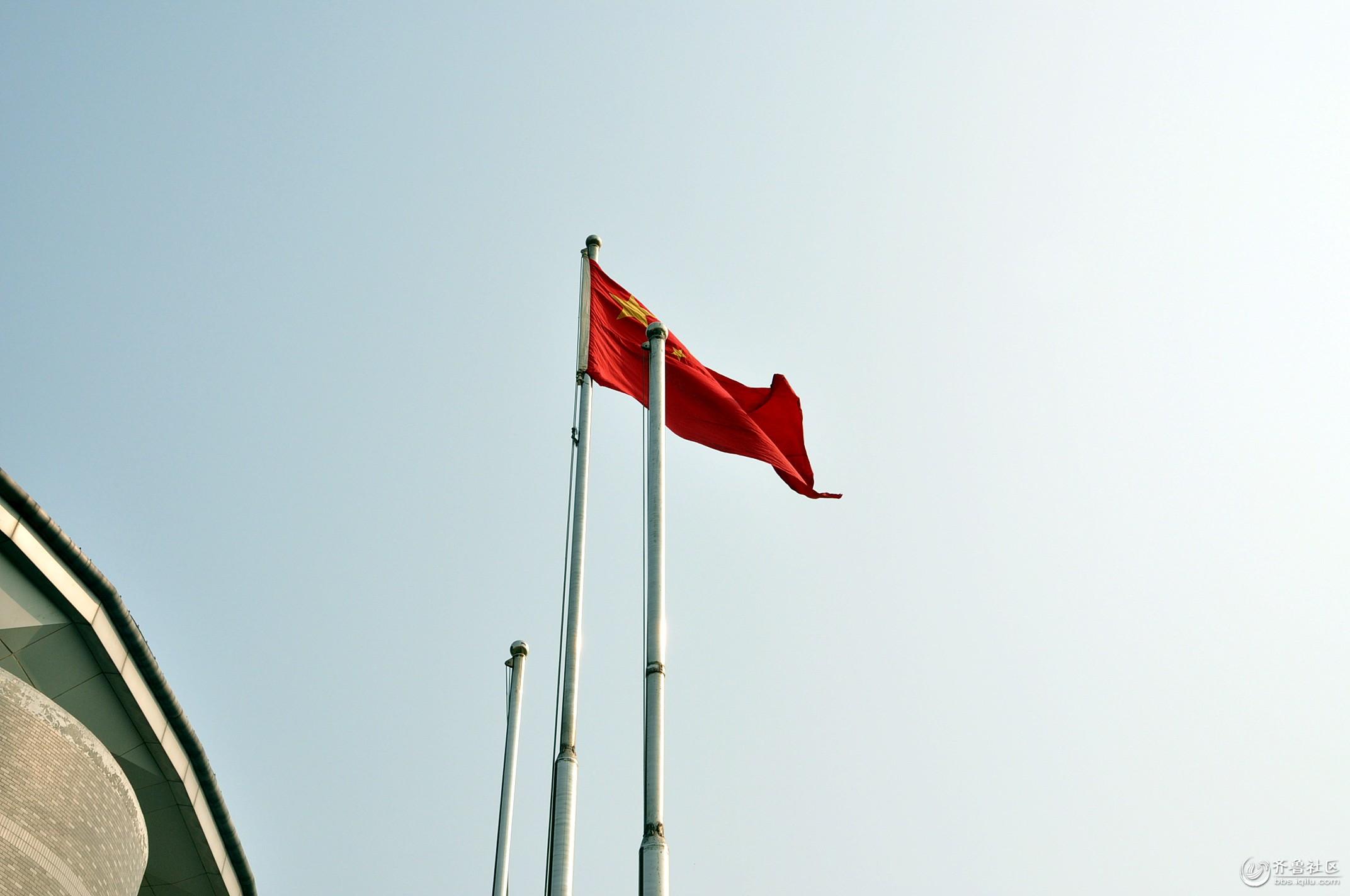 五星红旗飘扬