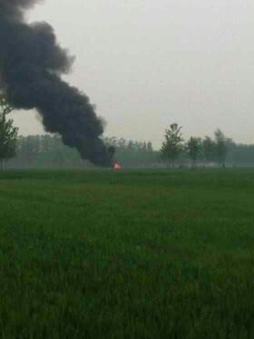 直升飞机坠落聊城 - 德州拍客 - 齐鲁社区 - 山东