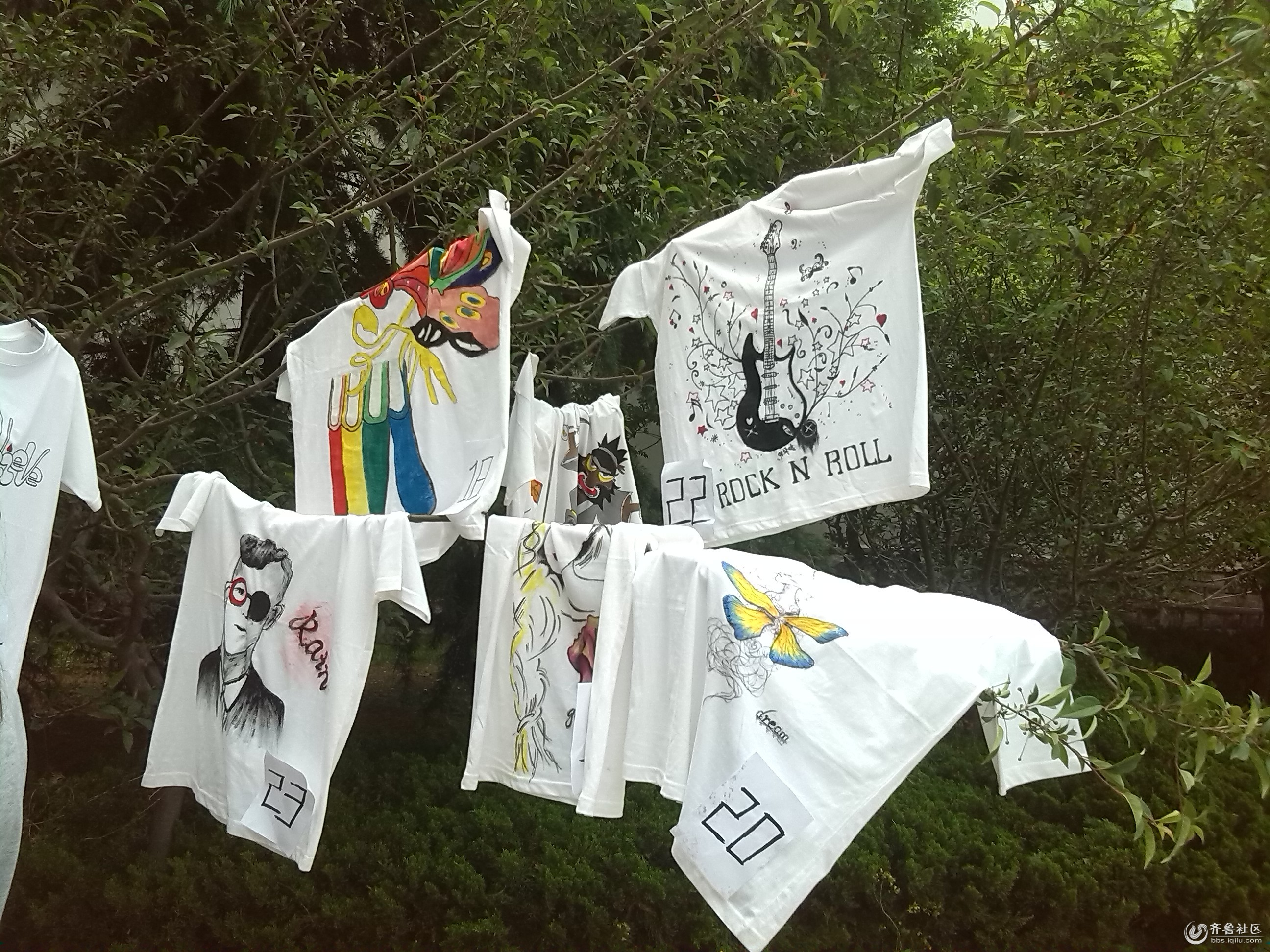 手绘t恤 - 校园拍客 - 齐鲁社区 - 山东最大的城市,台