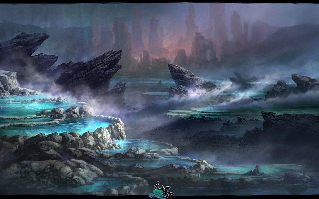 《九界》手绘场景桌面壁纸