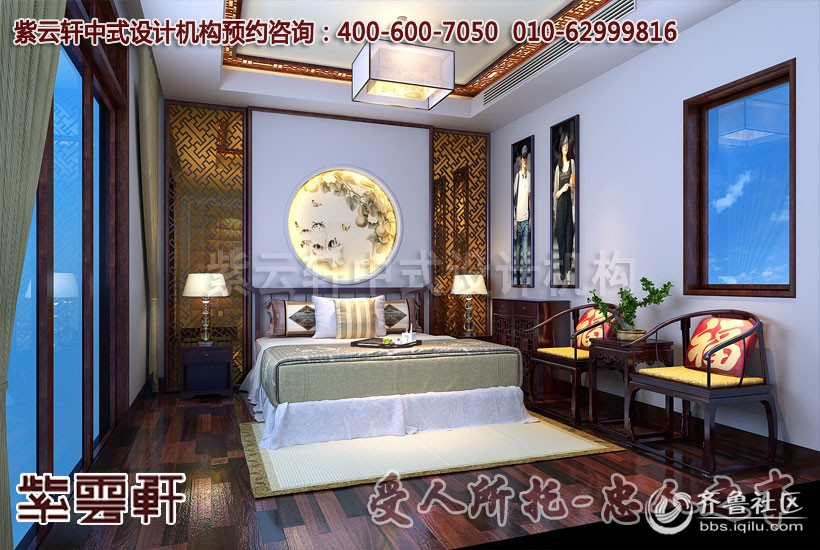 现代中式风格别墅装修设计方案欣赏_追忆古典文化