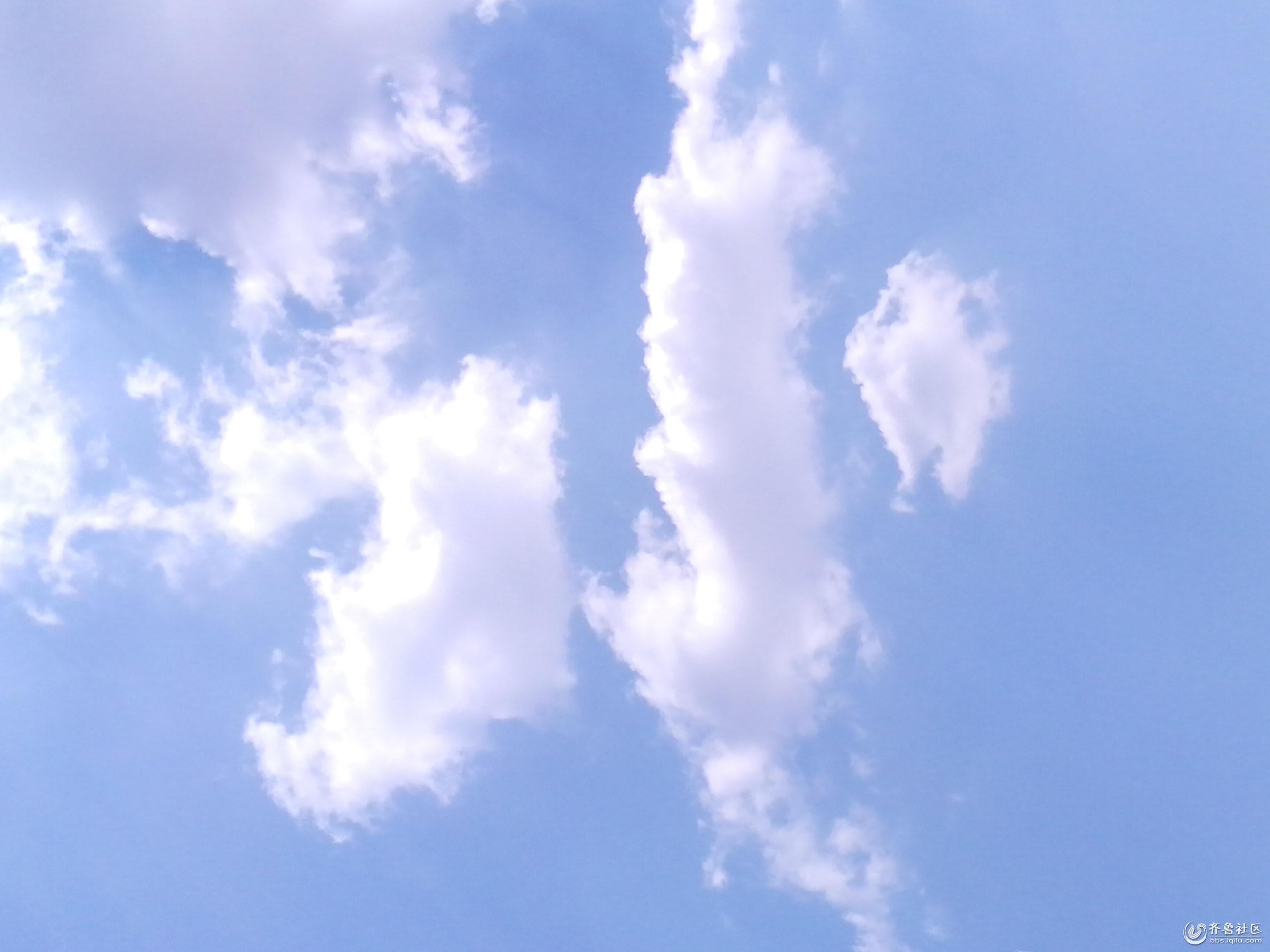 校园蓝天背景素材