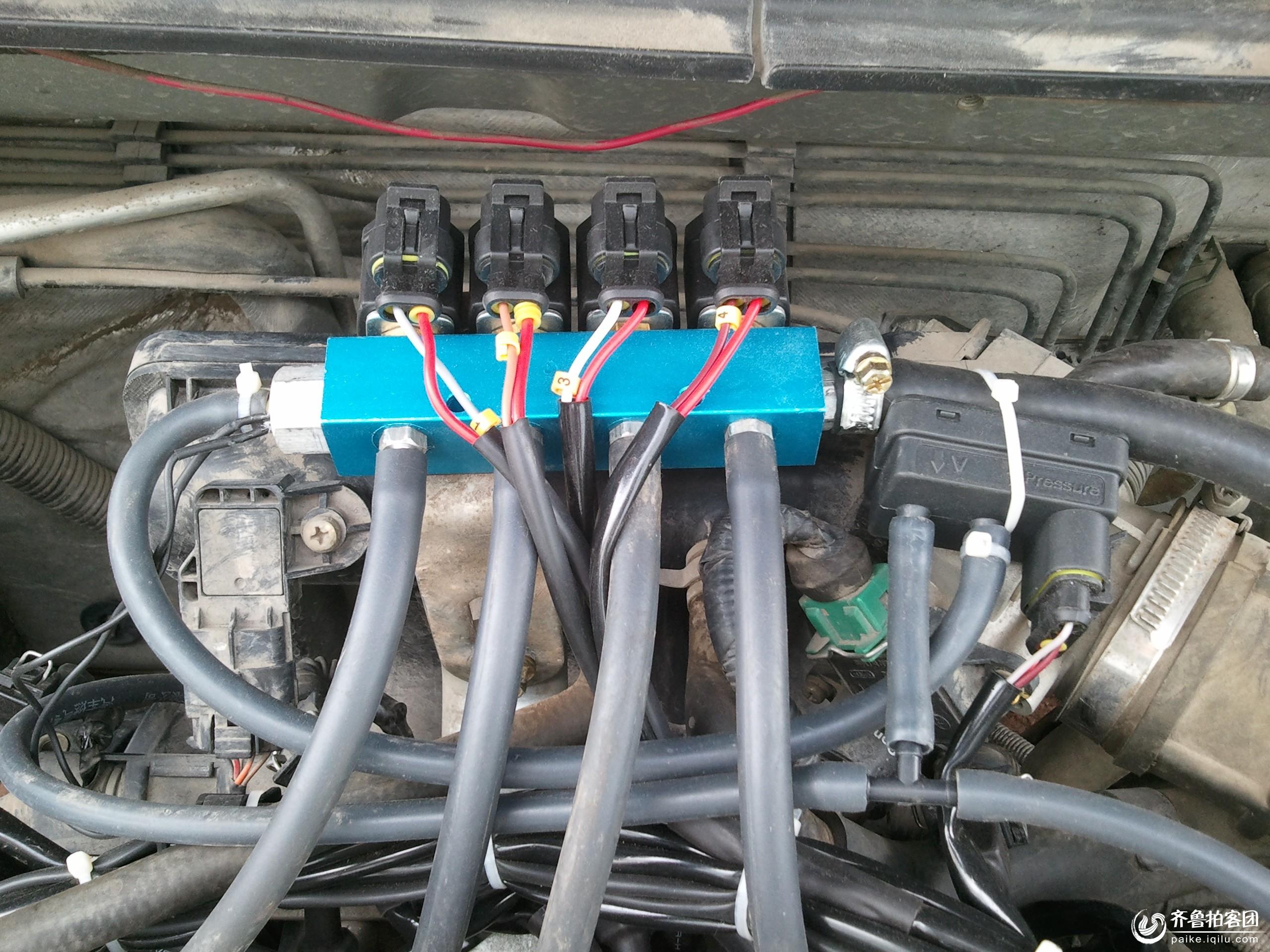 气罐连接发动机的:多点电喷装置.jpg