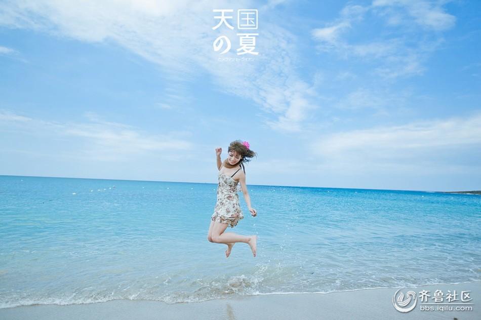清纯美女海边 拍摄唯美摄影