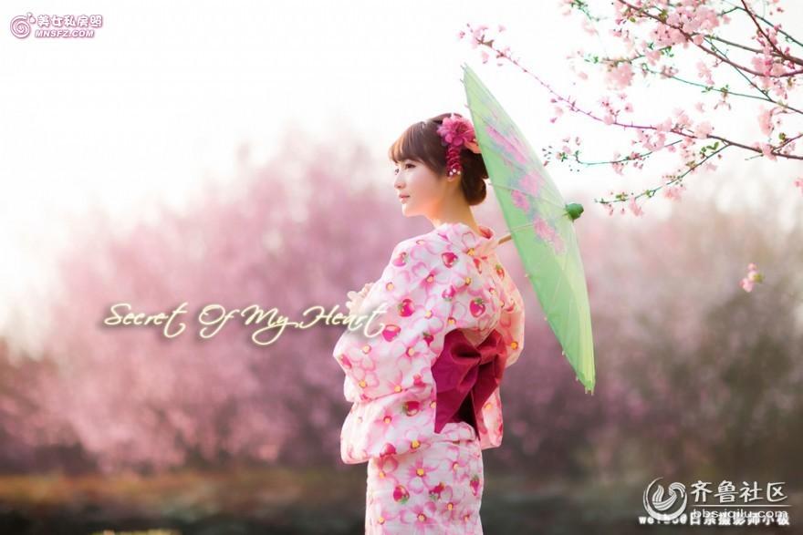 柔美日系 樱花和服美女 校园美女