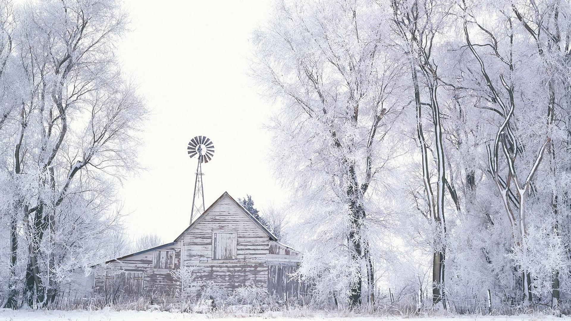 靜謐雪景高清桌面壁紙
