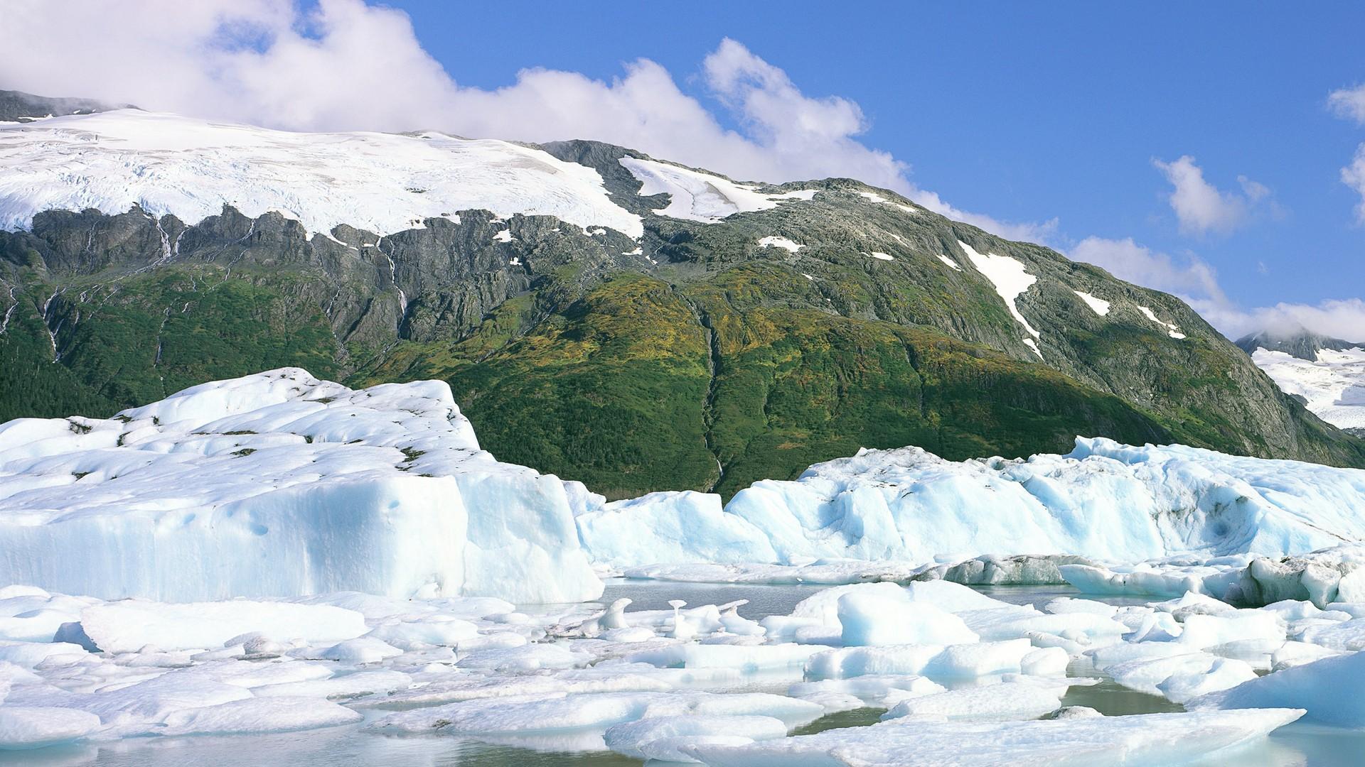 冰川全景风景高清桌面壁纸