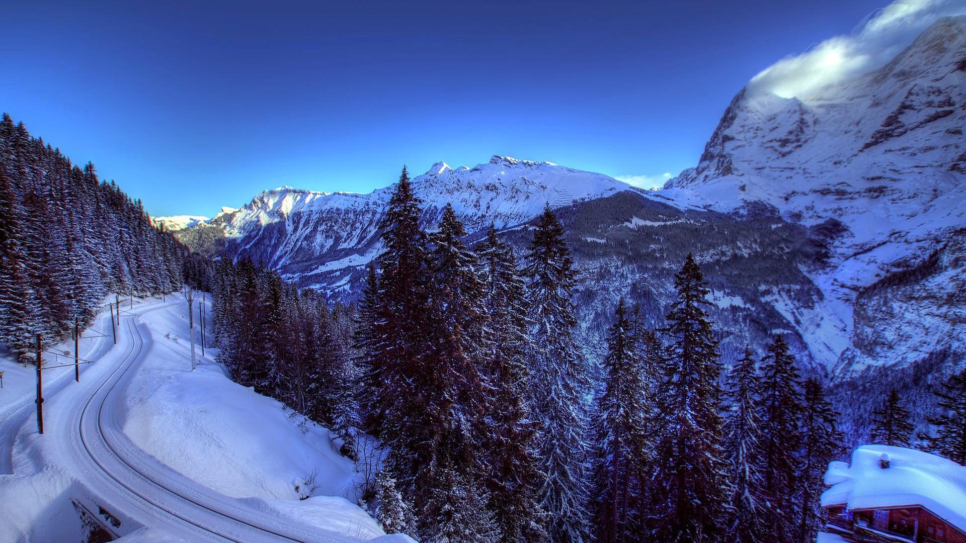 阿尔卑斯山美景桌面高清壁纸