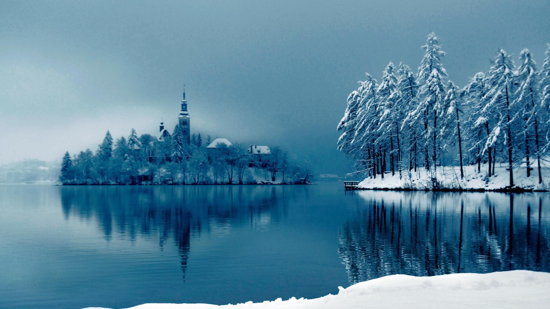 冬季唯美雪景高清桌面壁纸