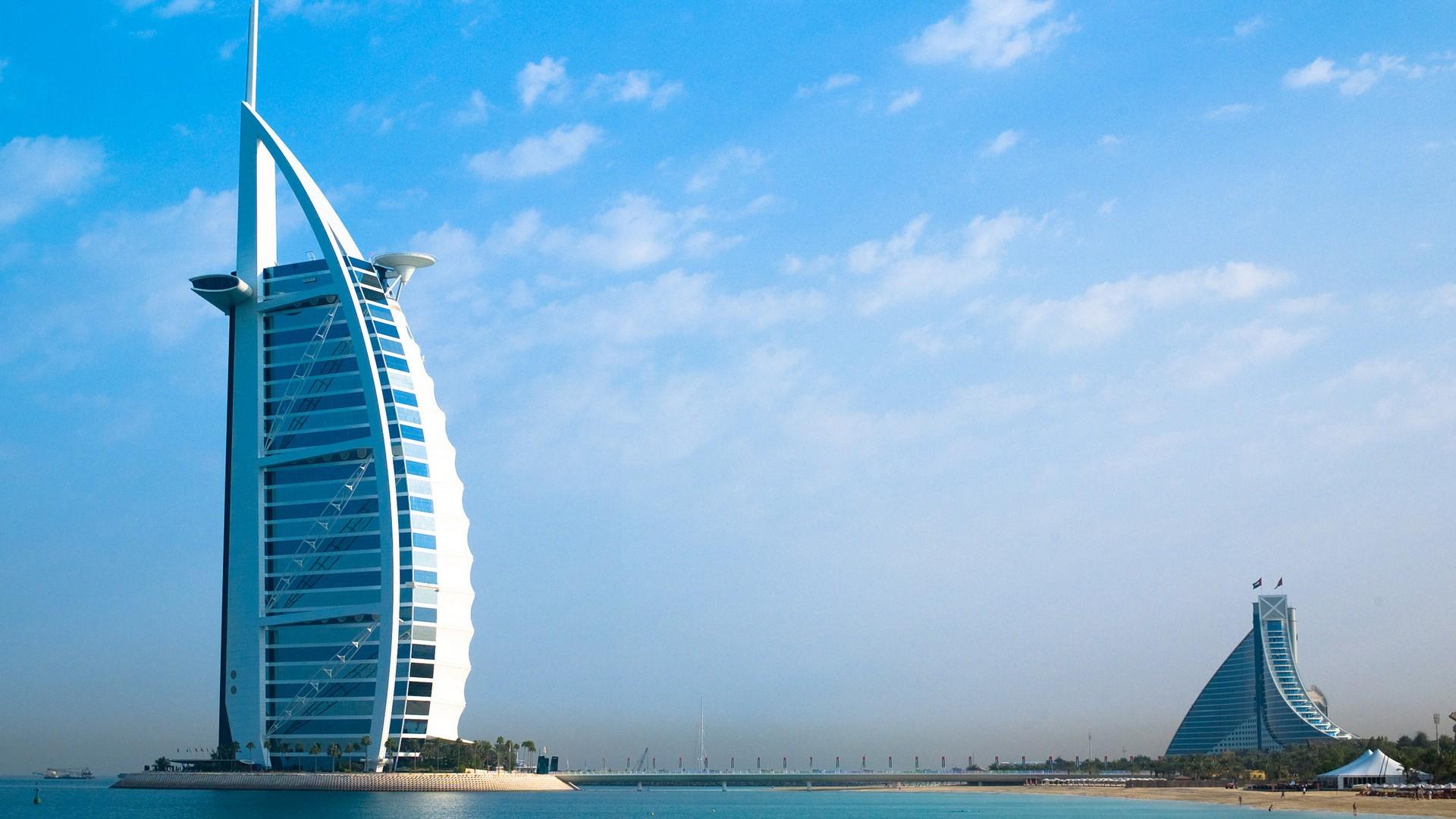 繁华的迪拜城市景色高清图片   素材中国16素材