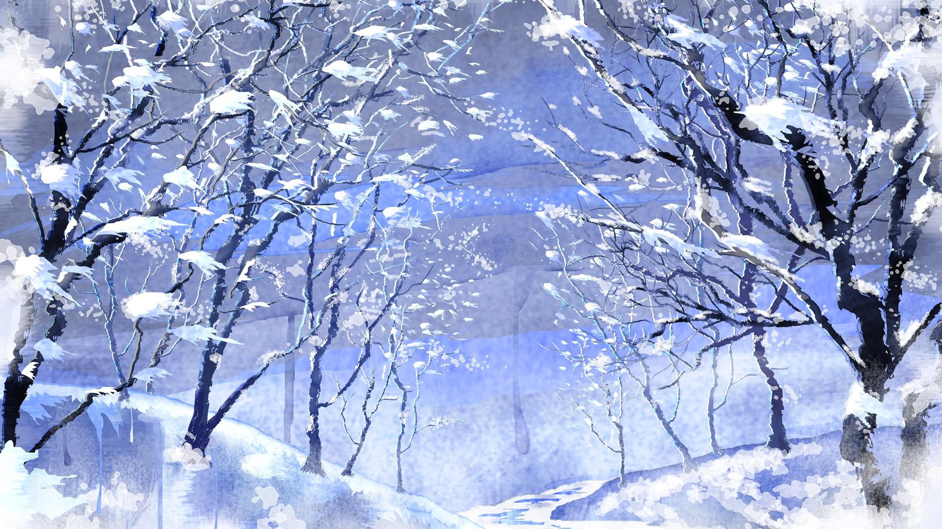 静谧雪景高清桌面壁纸
