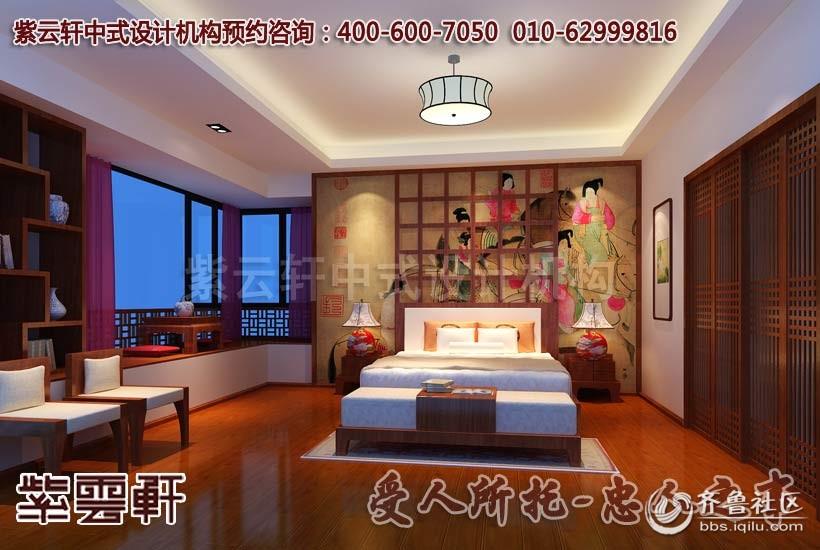 简约中式风格家装卧室设计装修效果图