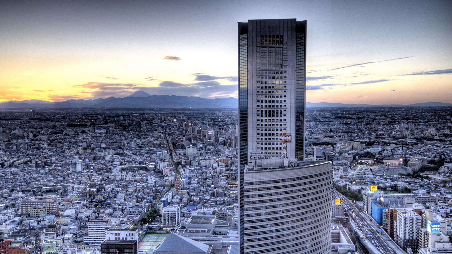 唯美城市建筑风景宽屏桌面壁纸