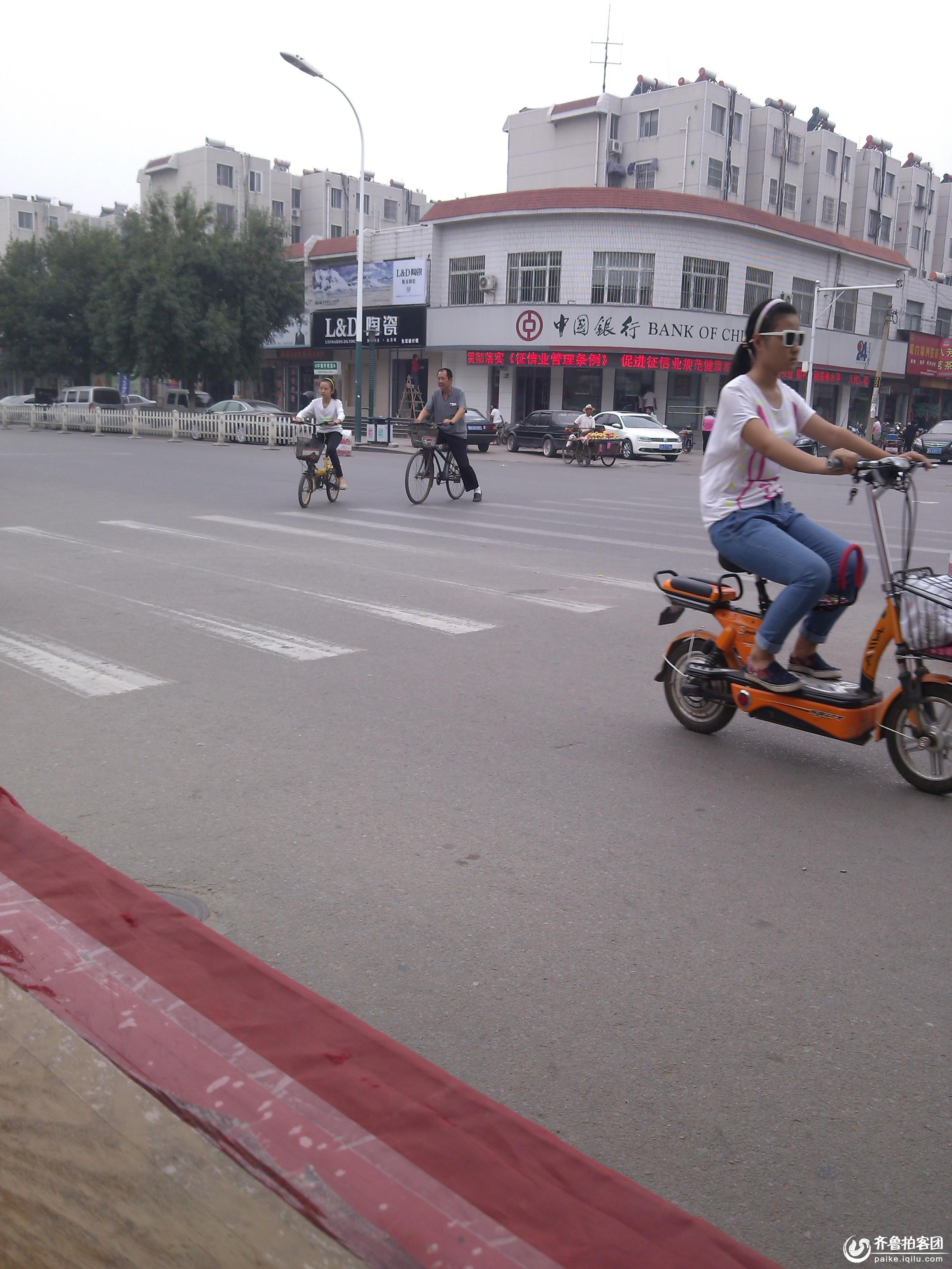 兖州街头美丽的风景线