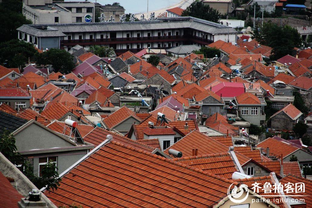 青岛特色红瓦屋