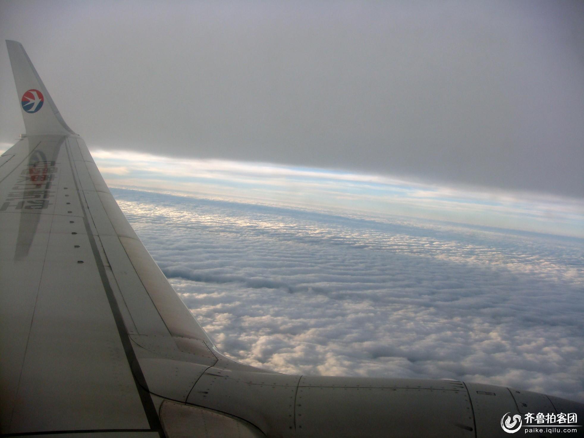 飞机上看云 - 菏泽拍客