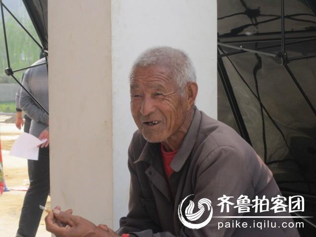 老人的笑脸
