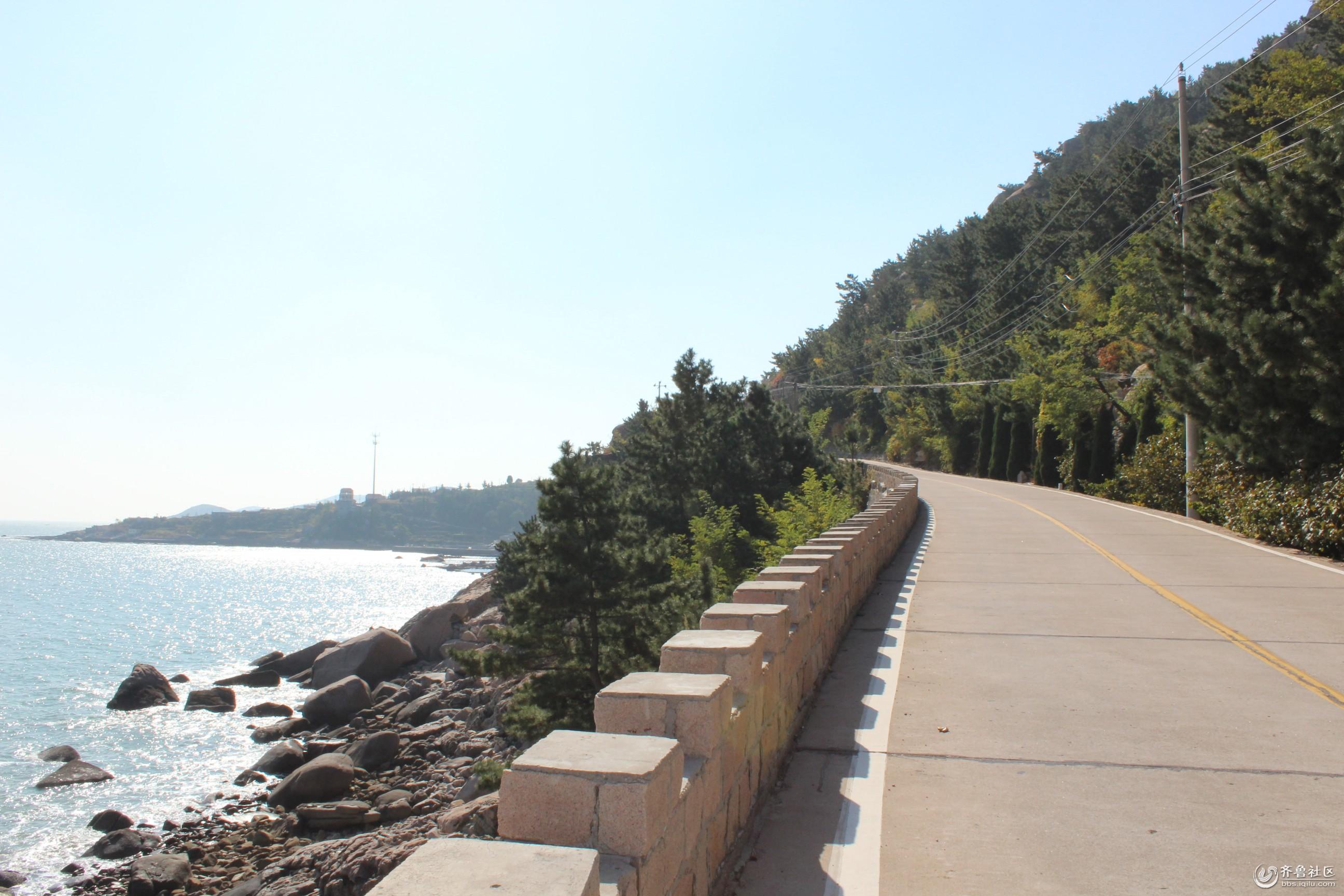 崂山风景区 海边公路