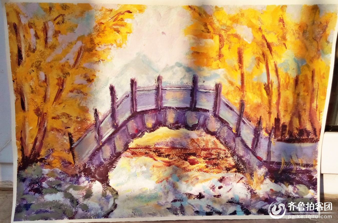 水彩风景装饰画 - 济宁校园拍客