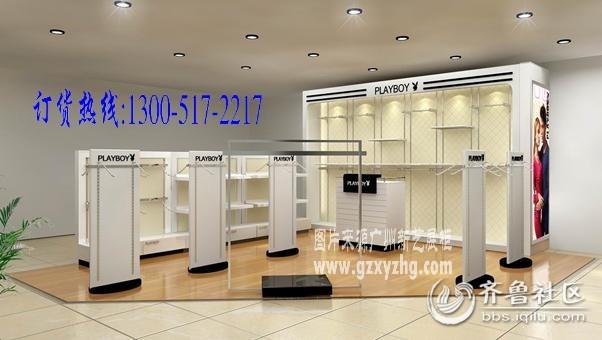 最新内衣店装修设计效果图,精品内衣家居服装展柜