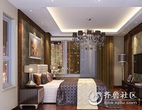 100平米三居欧式风格 卧室.jpg