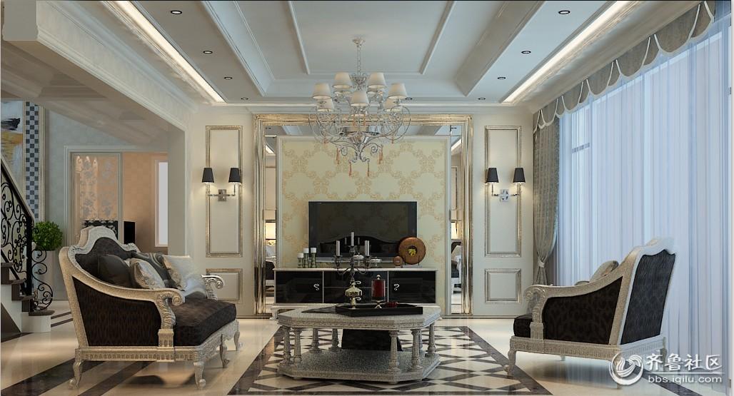 欧式的居室有的不只是豪华大气,更多的是惬意和浪漫。通过完美的典线,精益求精的细节处理,带给家人不尽的舒服触感,实际上和谐是欧式风格的最高境界。同时,欧式装饰风格的门的造型设计,包括房间的门和各种柜门,既要突出凹凸感,又要有优美的弧线,两种造型相映成趣,风情万种;柱的设计也很有讲究,可以设计成典型的罗马柱造型,使整体空间具有更强烈的西方传统审美气息。